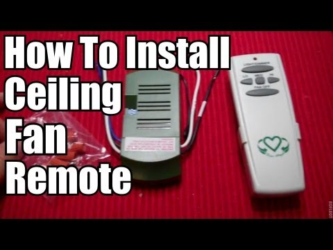Diy How To Install A Ceiling Fan Remote Youtube