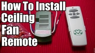 DIY: How To Install a Ceiling Fan Remote!