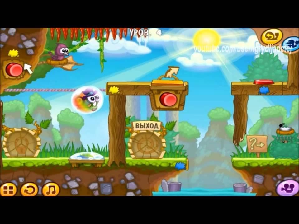 Игры для детей Улитка Боб 5 уровни 1-5 - YouTube