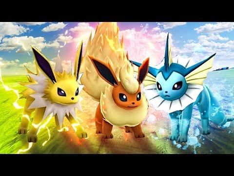 THE 3 EEVEE EVOLUTION TRIO! (Ark Pokemon)