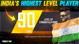 LEVEL UP 90 😵QNA WITH TOP 1 HIGHEST LEVEL PLAYER OF INDIA ICE-COLD FF- GARENA FREEFIRE #SUDIPSARKAR
