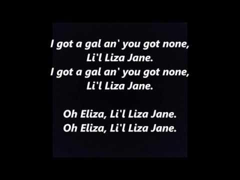 Li'l Little Liza Jane LYRICS WORDS BEST TOP POPULAR FAVORITE TRENDING SING ALONG SONGS