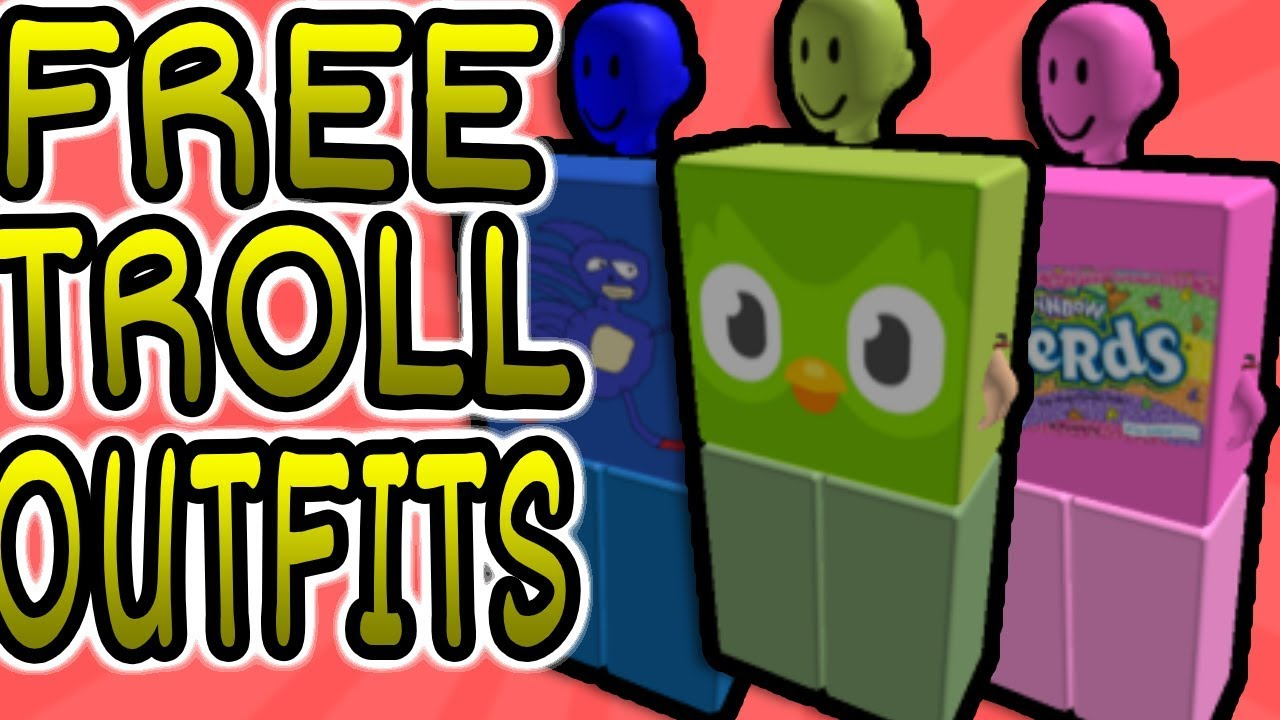 Free Cool Roblox Troll Outfits Youtube