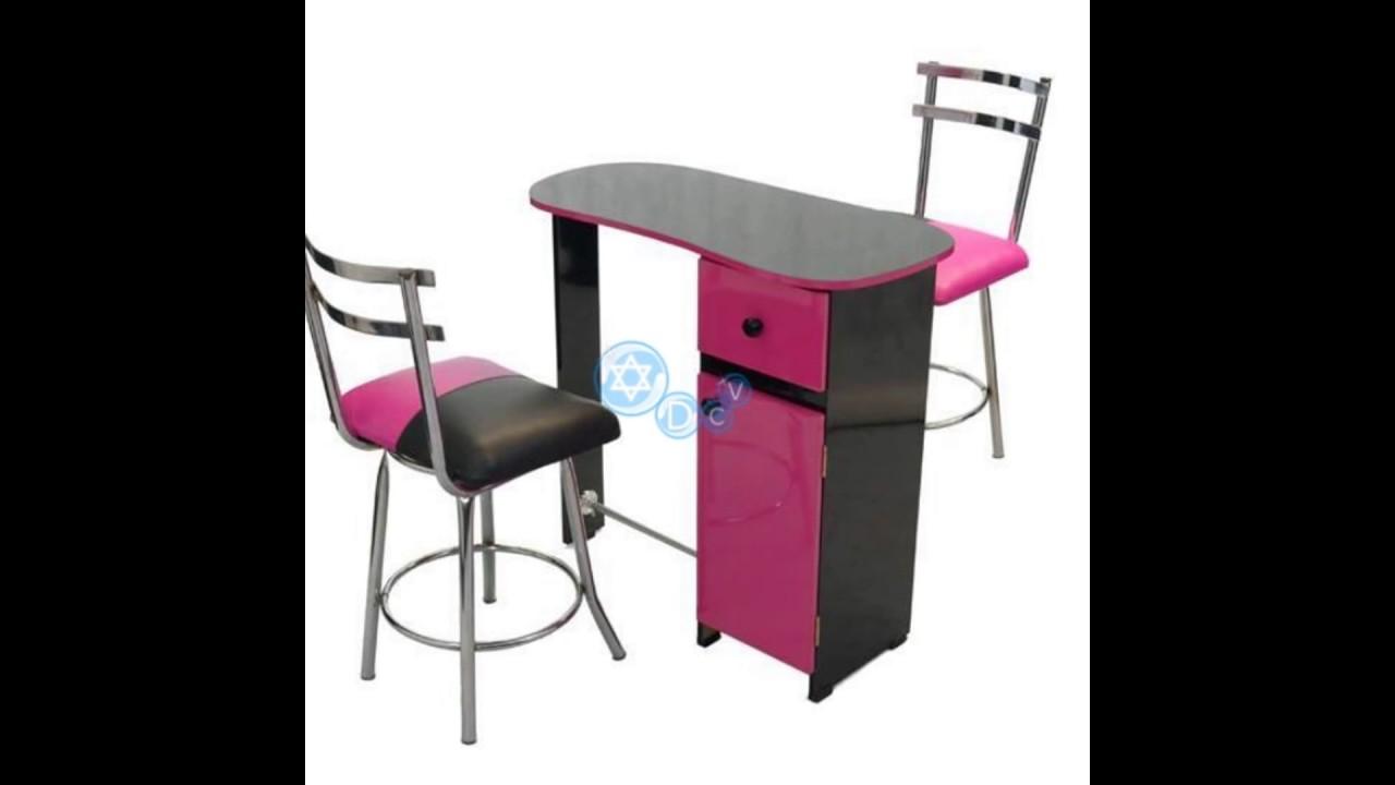 sillas y mesas para manicure  pedicure  YouTube