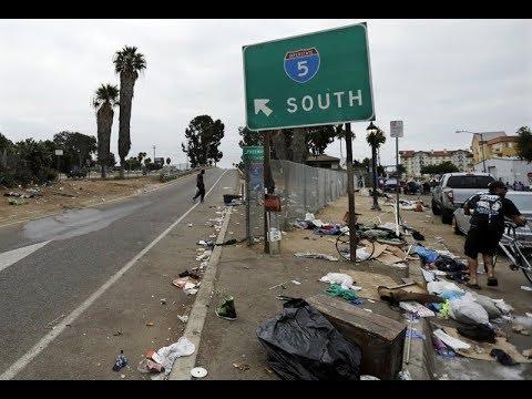 San Diego Deadly Hepatitis Outbreak Homeless Encampments