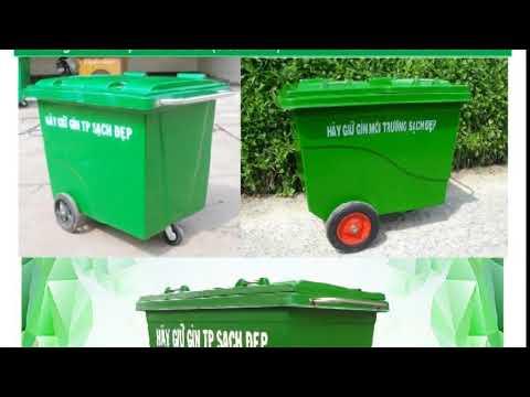 Thùng rác Composite 660 lít các loại cao cấp giá rẻ nhất thị trường - YouTube