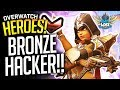 Overwatch Heroes - BRONZE HACKER!!! 900 SR PRO Widow!! [Funny Overwatch!]