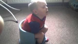 Potty training sleepy Luke!