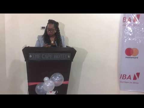 Central Bank of Liberia Representative speaking the program