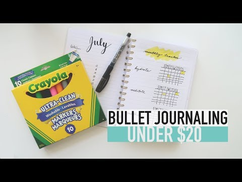 Bullet Journaling ON A BUDGET | Spreads For Lined Pages
