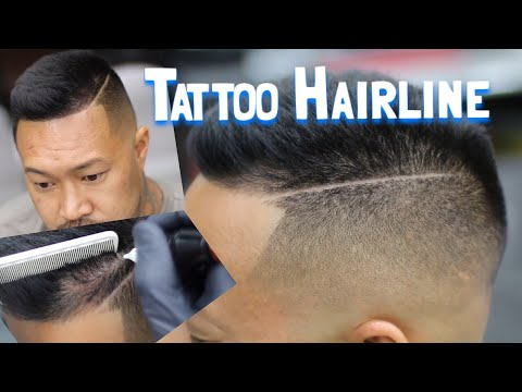 How to Fade Men's Hair | Hairline Tattoo