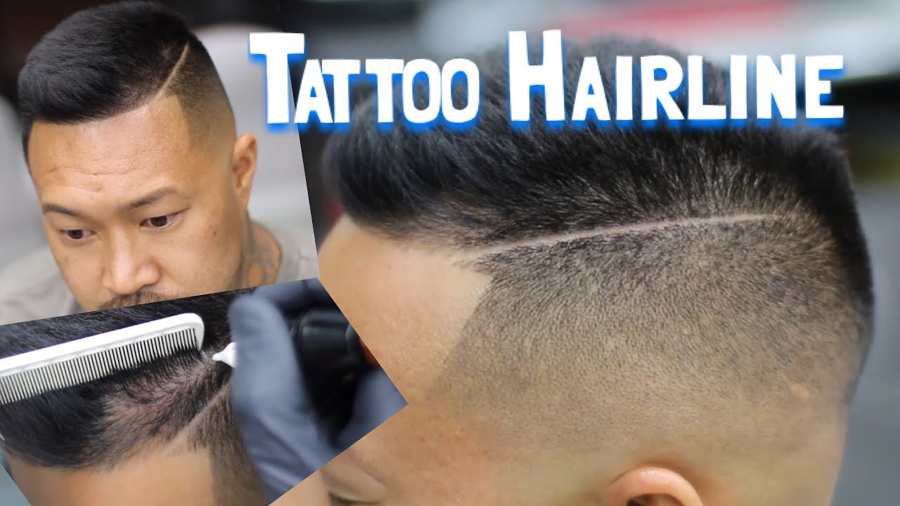 How to fade men 39 s hair hairline tattoo youtube for How to fade a tattoo