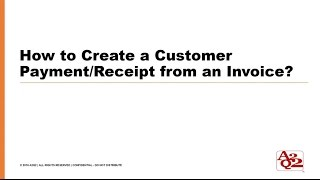 #77 | NetSuite How to Create a Customer Payment Receipt from an Invoice