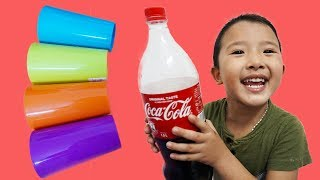 Tony Bin Go To School Learn math with Cups | Classroom Funny Nursery Rhymes