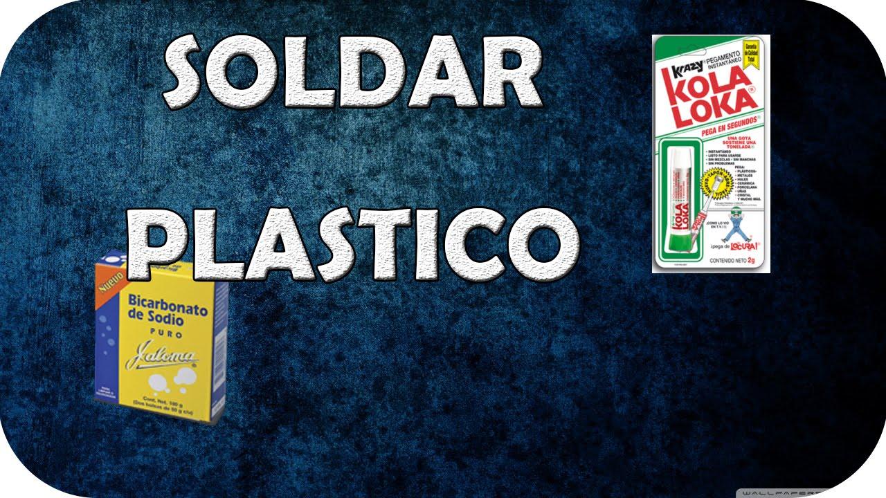 Como reparar plastico con kolaloka y bicarbonato de sodio for Como pegar plastico