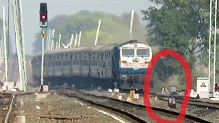 Poor DOG Cuts into Pieces : Brutal Sanghamitra Superfast Overtakes ET Passenger : INDIAN RAILWAYS