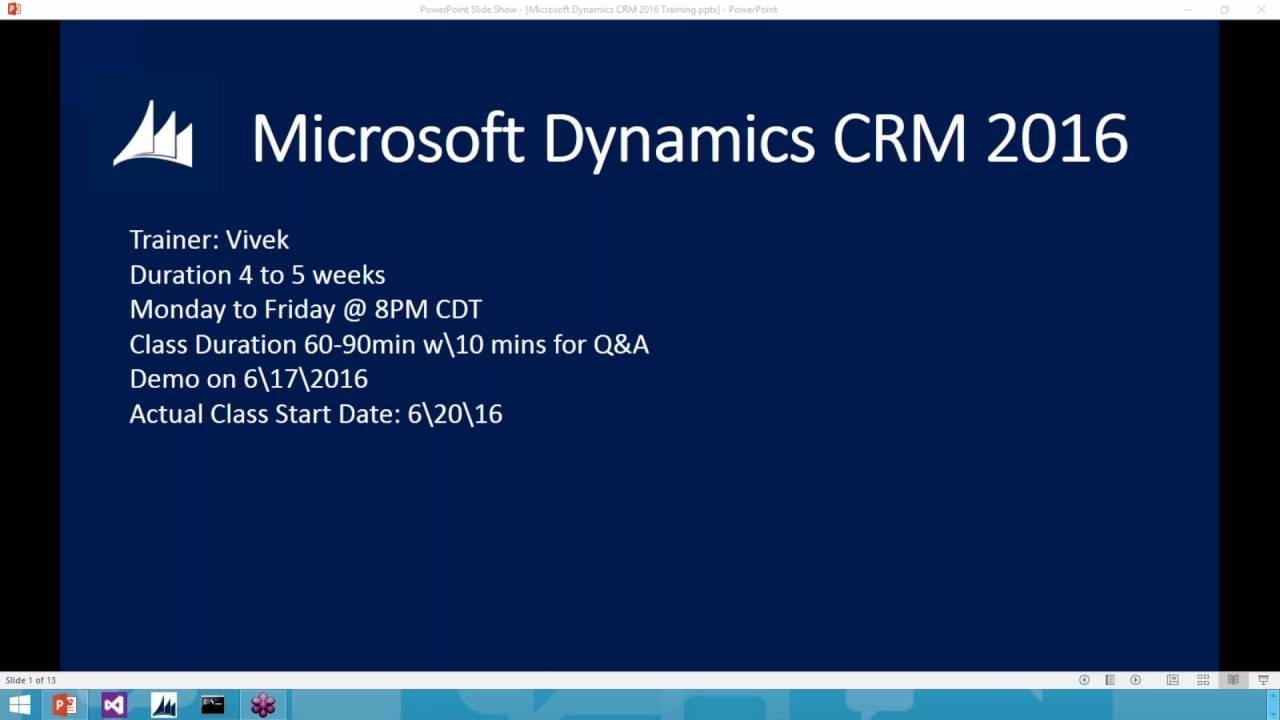 Microsoft Dynamics CRM Training Demo