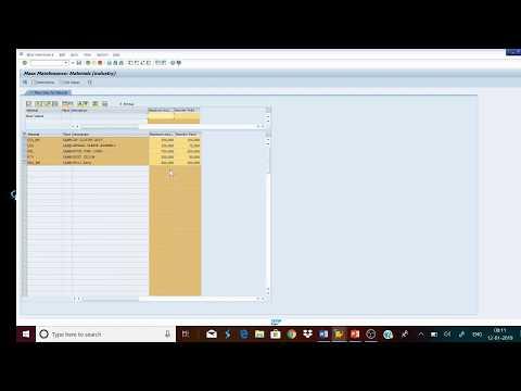 MASS MAINTENANCE  OF DATA IN SAP