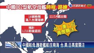 下馬威? 中國航母經台海 綠委:武力展示反效果-民視新聞