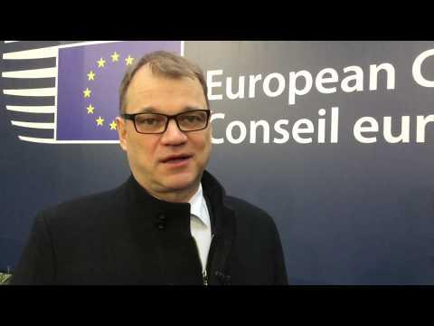 Pääministeri Sipilä joulukuun Eurooppa-neuvostossa