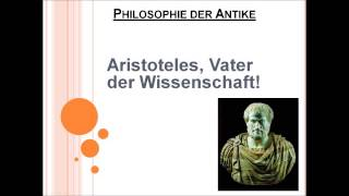 Aristoteles, Vater der Wissenschaft