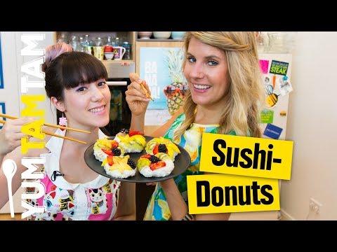 Sushi-Donuts // Süßes Sushi mit Obst // #yumtamtam