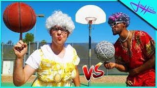 GRANNY Basketball TRICK SHOT Battle!