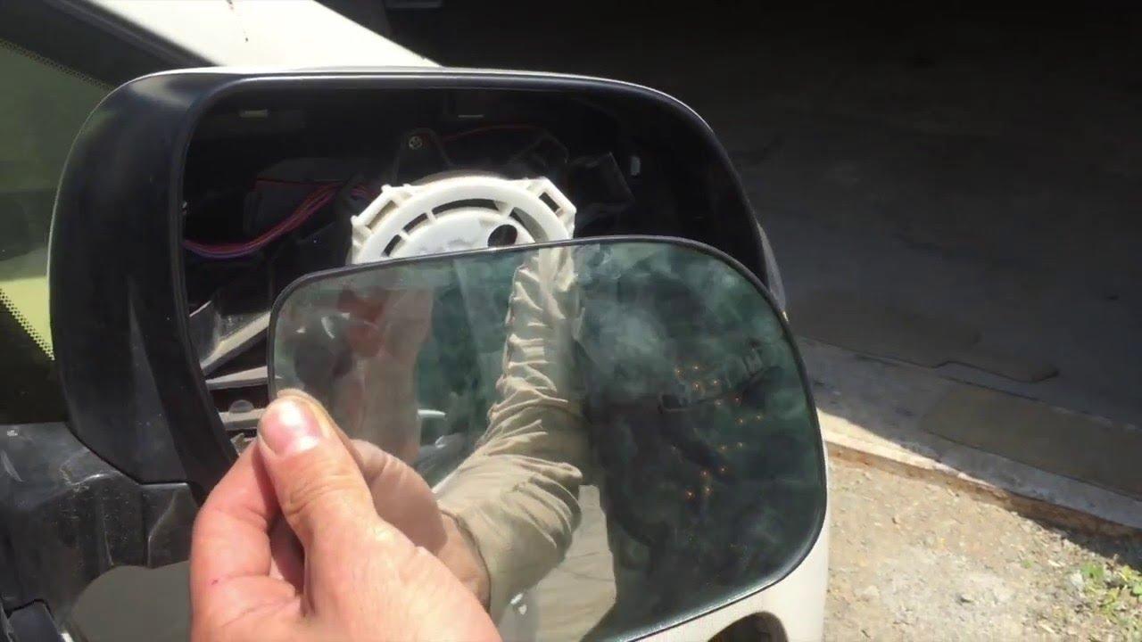 Замена стекла зеркала, без подогрева. Passat B3 - YouTube