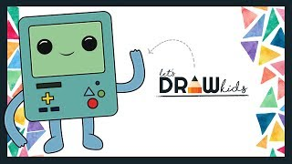 How To Draw BMO | Adventure Time Coloring Book | BMO Adventure Time | Drawing Chibi