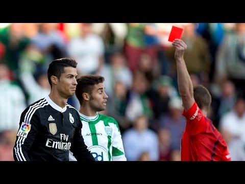 Cristiano Ronaldo All Red Cards In His Career HD
