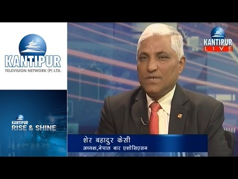 Sher Bahadur KC interview in Rise & Shine on Kantipur Television