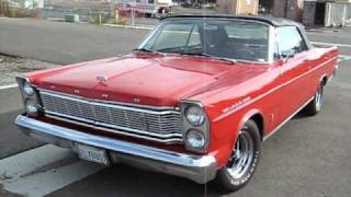 1965 Red Ford Galaxie Convertible For Sale Export Only