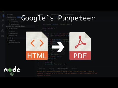 Generate PDFs (From HTML & CSS) With NodeJS And Puppeteer