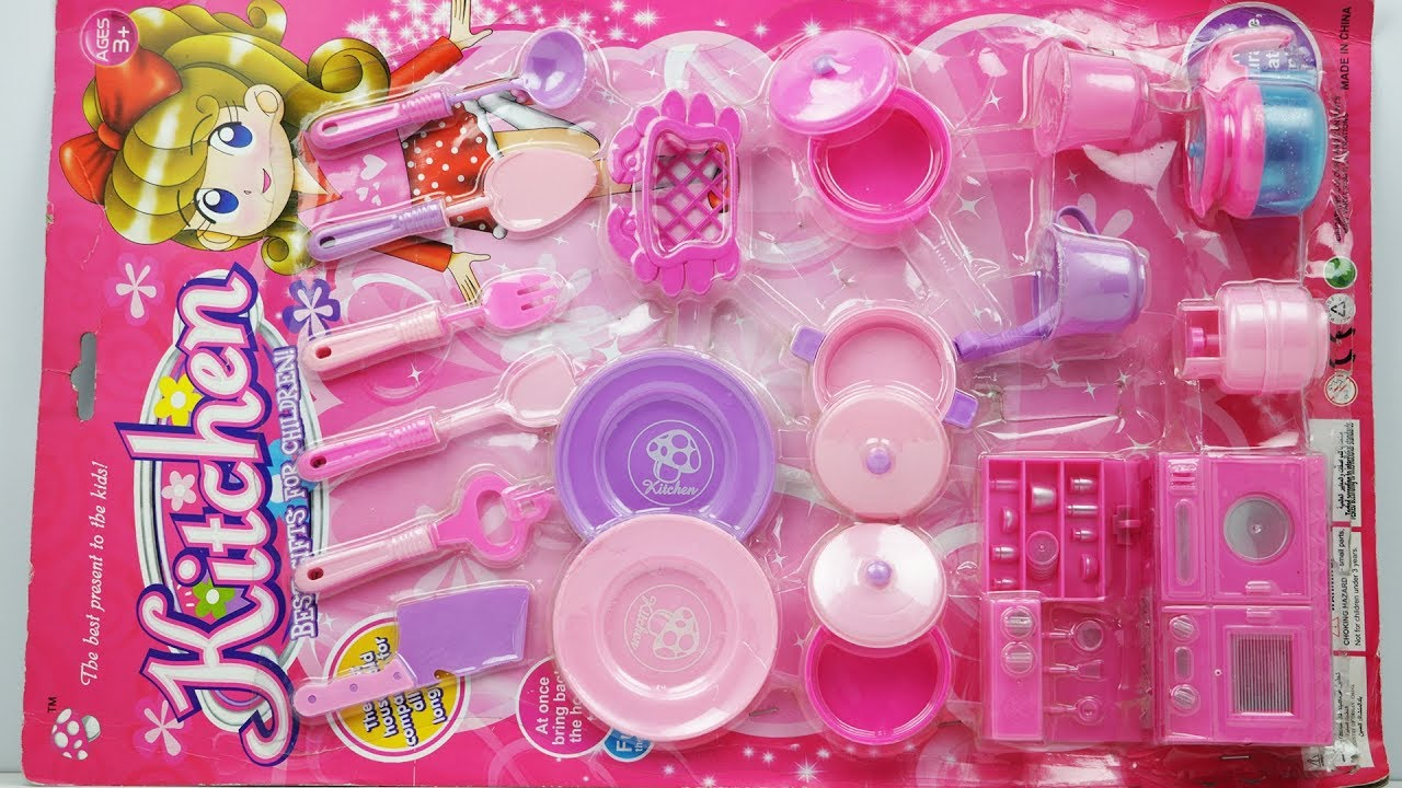 Pink Kitchen Set For Baby Girls Kitchen Set Unpacking Toy Review
