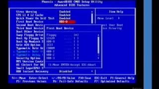 Загрузка с диска BIOS