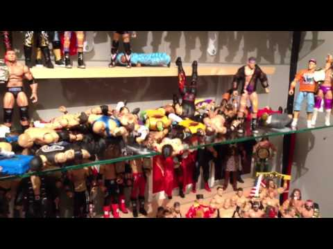 WWE Figures display FELL!!!! Mattel wrestling action figure collection ruined AGAIN!