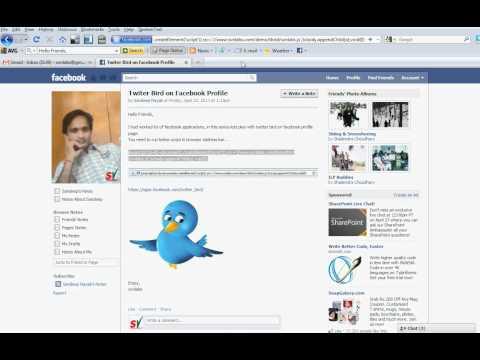 Twitter Bird on Facebook Profile