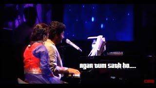 Arijit singh live  Agar tum sath ho  Kaise mujhe  Tu hi re  Tum ho  piano medley