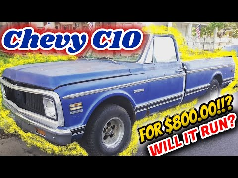 I Bought a Chevy C10 for $800!? Will it run???