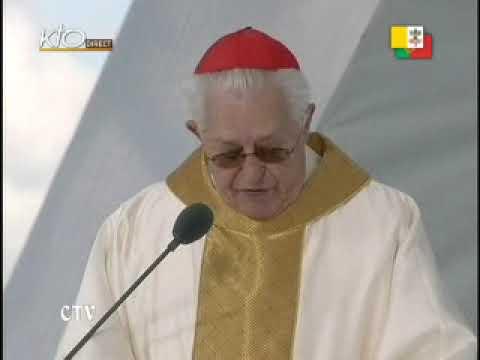 Messe sur le 'Terreiro do Paço' de Lisbonne