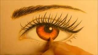♡ BELLA CULLEN RED EYE DRAWING SUPER SPEED PAINTING TUTORIAL