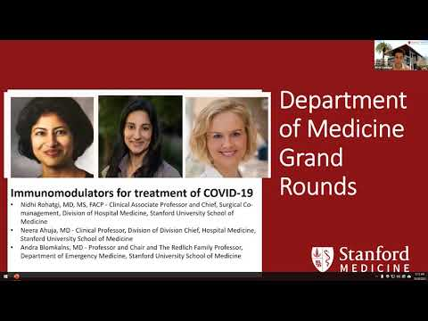 Immunomodulators for Treatment of COVID-19 – Stanford Dept. of Medicine Grand Rounds - 28 Oct 2020