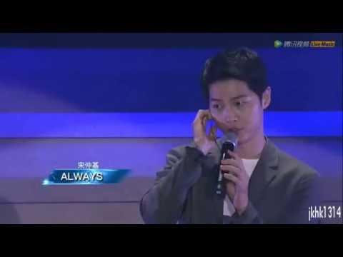 160611 송중기 Song Joong Ki FM sing 'Always' Descendants Of The Sun OST 태양의 후예OST 宋仲基