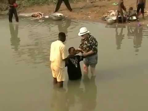 Baptism in the River Farm Lome Togo Africa