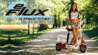 Elektroscooter eFlux Street 40 mit Straßenzulassung von Actionbikes