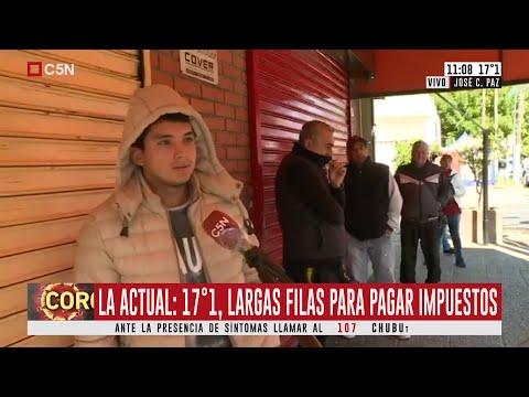 José C. Paz: Largas Colas Para Pagar Impuestos