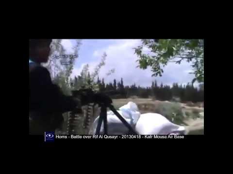 Homs - Battle over Rif Al Qusayr - 20130418 - Kafr Mousa Air Base 28m08s]