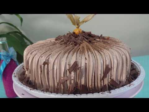 Cobertura de glacê de chocolate para bolo