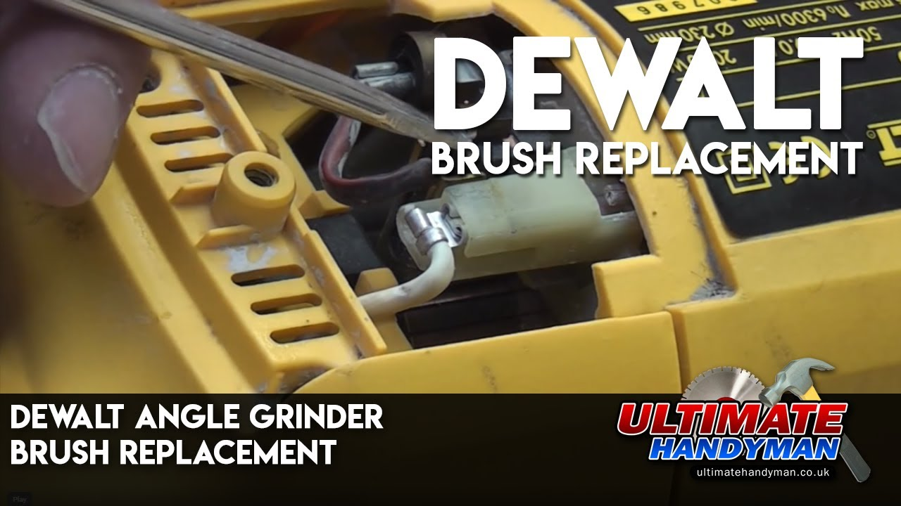 Dewalt Angle grinder brush replacement on