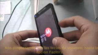 Como restaurar celular  Motorola RAZR D3 XT919.